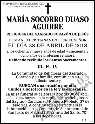 María Socorro Duaso Aguirre